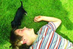 Hund mit Kind