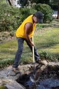 der Bau eines Gartenteichs